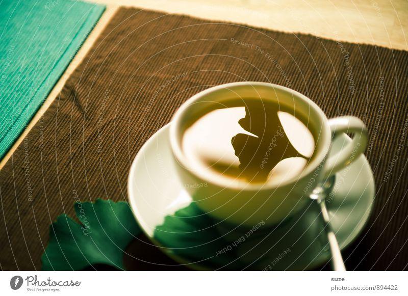 Voll im Tee grün Erholung Blatt ruhig Gesunde Ernährung Leben natürlich Stil Gesundheit braun Gesundheitswesen Lifestyle Zufriedenheit Getränk einzigartig zart