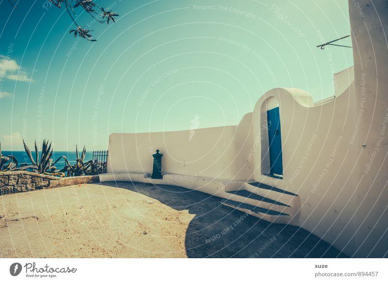 Die Pforte Stil Zufriedenheit Ferien & Urlaub & Reisen Sommer Sommerurlaub Insel Kultur Dorf Gebäude Architektur Mauer Wand Treppe Fassade Tür alt authentisch