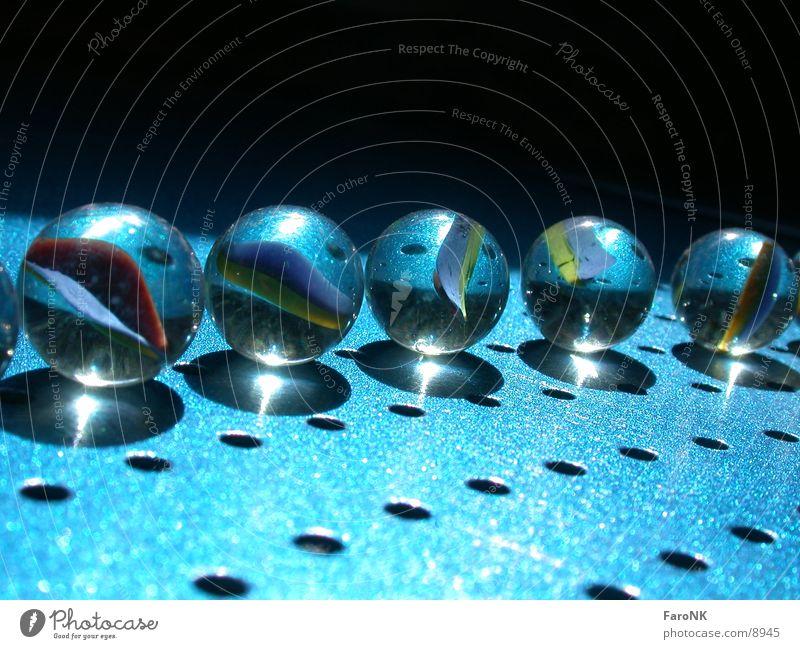 Glasmurmeln blau Murmel Fototechnik