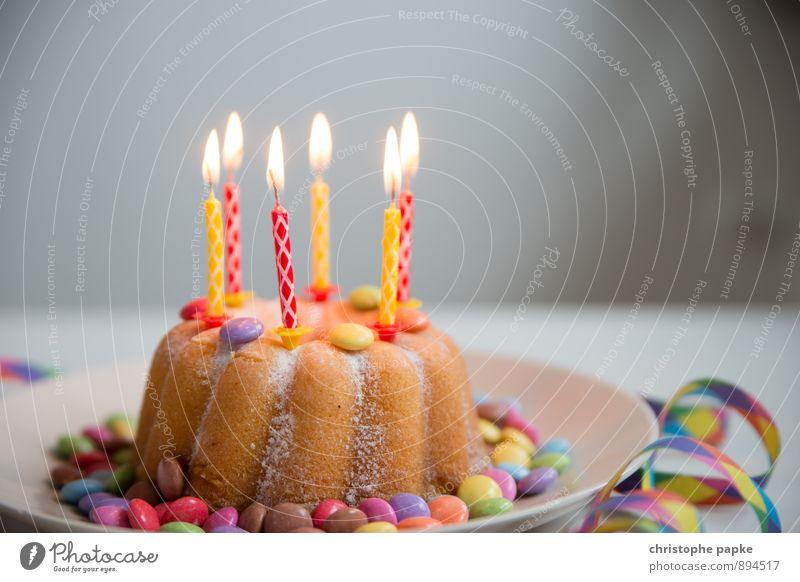 jeder will nur ein stück Feste & Feiern Lebensmittel Party Geburtstag Ernährung süß Kerze Kuchen Teller Dessert Geburtstagstorte Kaffeetrinken Schokolinsen