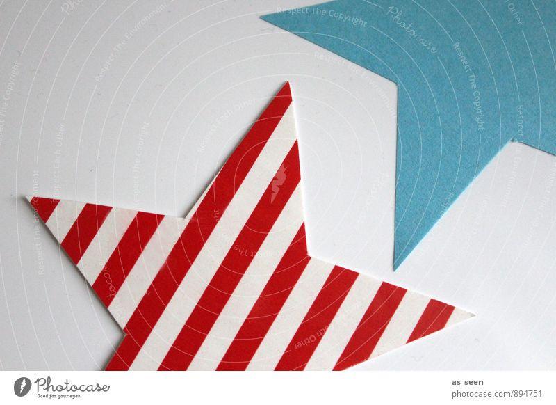 Stars & Stripes Stadt blau Weihnachten & Advent Farbe weiß rot Innenarchitektur Stil Kunst Feste & Feiern Design leuchten Dekoration & Verzierung elegant modern Papier