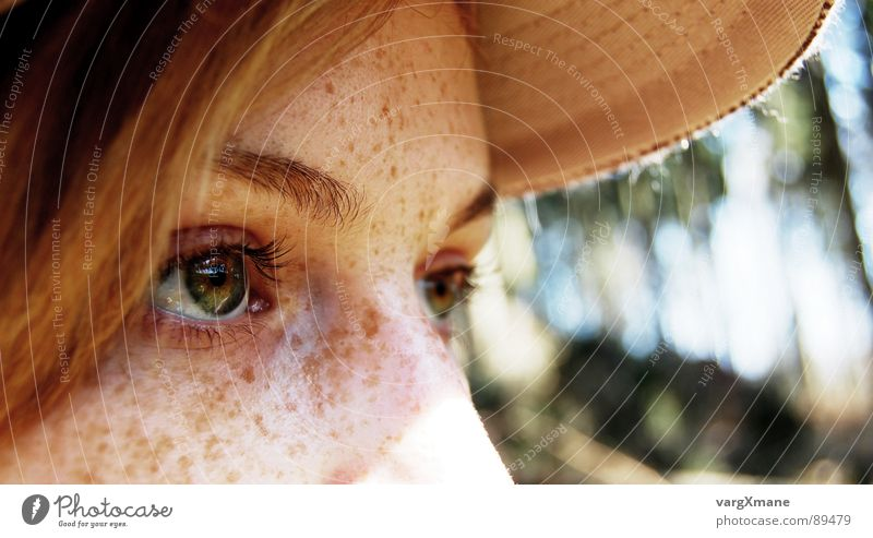 mY darling Frau grün Sonne Gesicht Auge Wärme träumen Nase Partnerschaft Sommersprossen