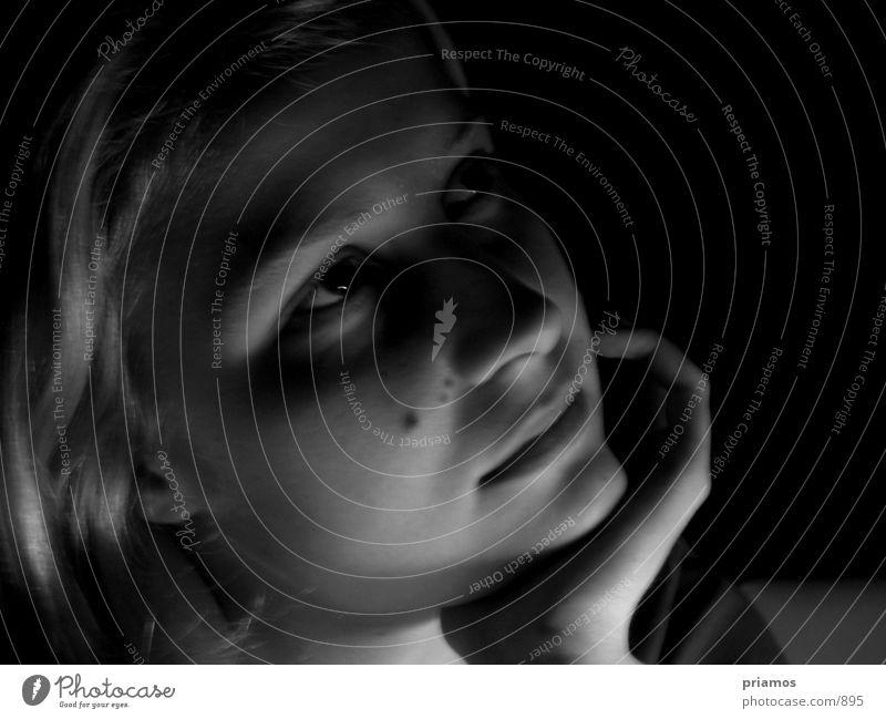 Dreaming Frau Mensch Gesicht Auge nah verträumt