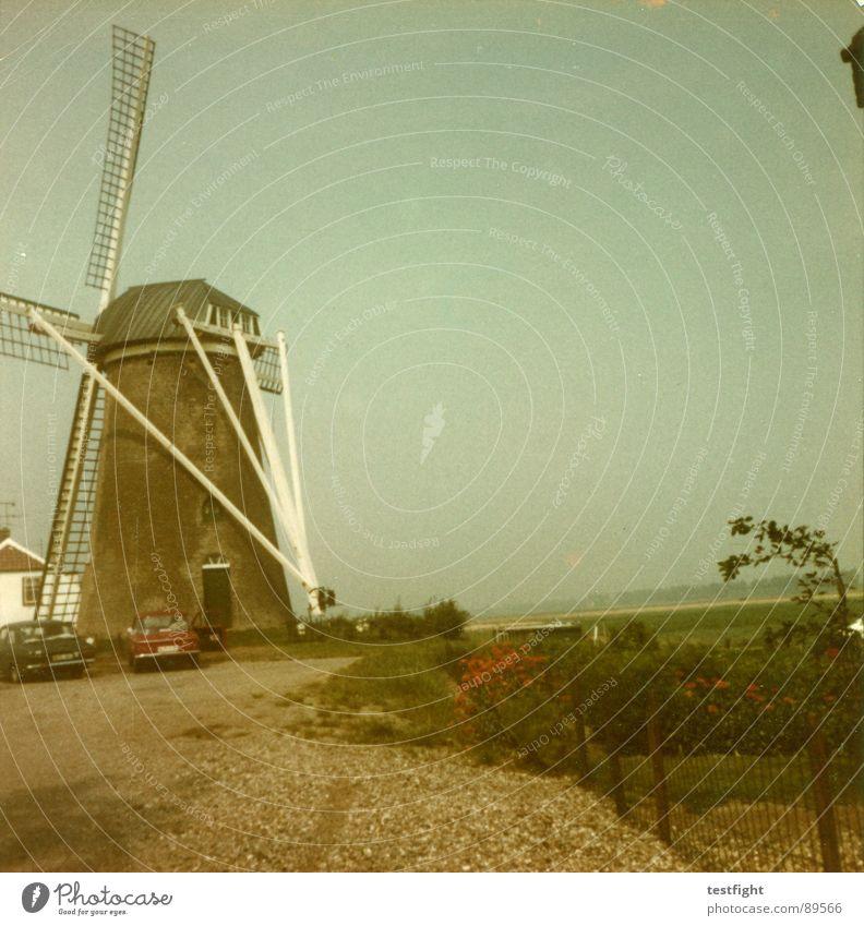 holland - 1971 Niederlande Mühle Siebziger Jahre retro Sommer Ferien & Urlaub & Reisen Amsterdam Windkraftanlage alt trashig holiday