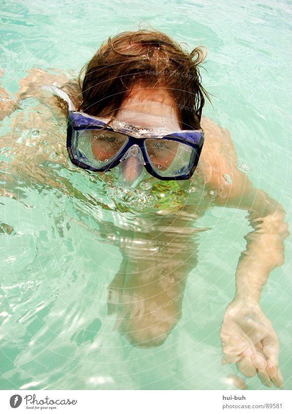 Nicht schwimmer ?! Wasser Ferien & Urlaub & Reisen Freude ruhig Auge Haare & Frisuren Wärme Luft träumen nass Schwimmen & Baden schlafen Brille Sauberkeit