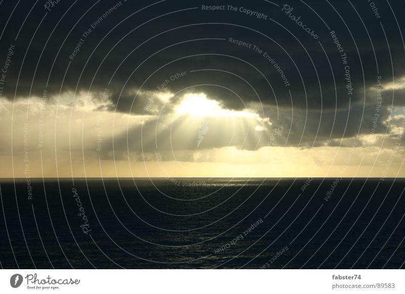 Ich sehe Licht Wolken Meer Great Ocean Road Lichtspiel Lichtstrahl Elektrizität Himmel Sonne