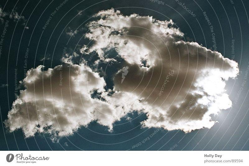 Rügen??? Wolken dunkel Island in the Sky Sommer Himmel Sonne hell Insel Wetter Sonne die sich hinter einer Wolke versteckt