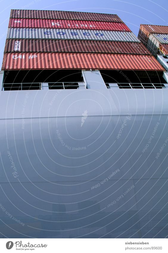 Grösse wird oft überbewertet Wasserfahrzeug Meer Binnenhafen Güterverkehr & Logistik Schifffahrt Ware Handel Ladengeschäft Börse Stahl Verkehr Umsatz Frachter