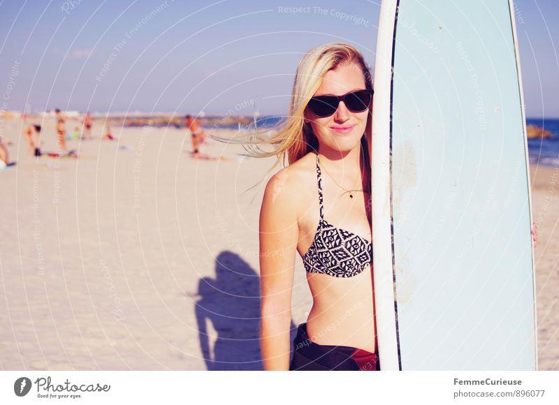 SurferGirl_01 Lifestyle Freizeit & Hobby Ferien & Urlaub & Reisen Tourismus Abenteuer Freiheit Sommer Sommerurlaub Sonne Strand Meer Sport Fitness