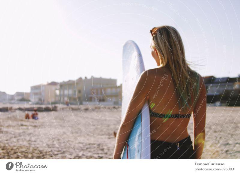 SurferGirl_03 Mensch Frau Ferien & Urlaub & Reisen Jugendliche Junge Frau 18-30 Jahre Ferne Erwachsene Bewegung feminin Sport Glück Freiheit Freizeit & Hobby