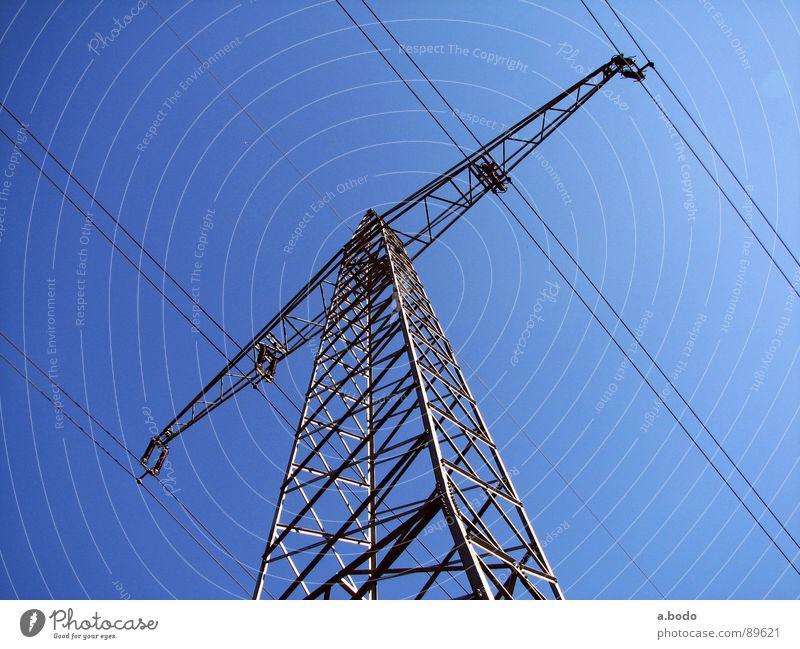 Power Pole Himmel Kraft Metall Energiewirtschaft Elektrizität Technik & Technologie Strommast Eisen Nordpol Elektrisches Gerät Altokumulus