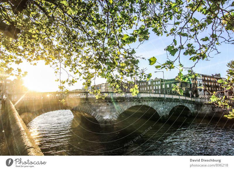 Glory bridge Himmel Ferien & Urlaub & Reisen blau Stadt grün weiß Sommer Baum Blatt Haus schwarz gelb Herbst Frühling orange Tourismus