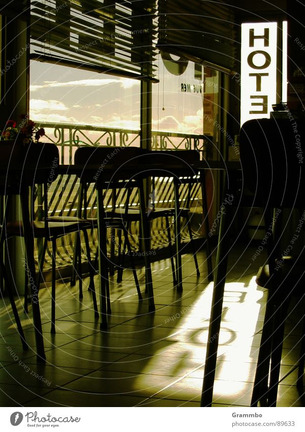 Meerblick Ferien & Urlaub & Reisen Tisch Aussicht Stuhl Gastronomie Hotel Frankreich Erinnerung