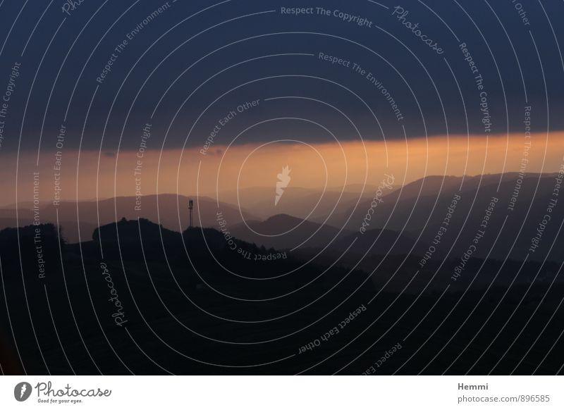 Sonnenaufgang Natur Landschaft Erde Luft Sonnenuntergang Sonnenlicht Wetter Schönes Wetter Regen Hügel Felsen Berge u. Gebirge außergewöhnlich dunkel schön blau