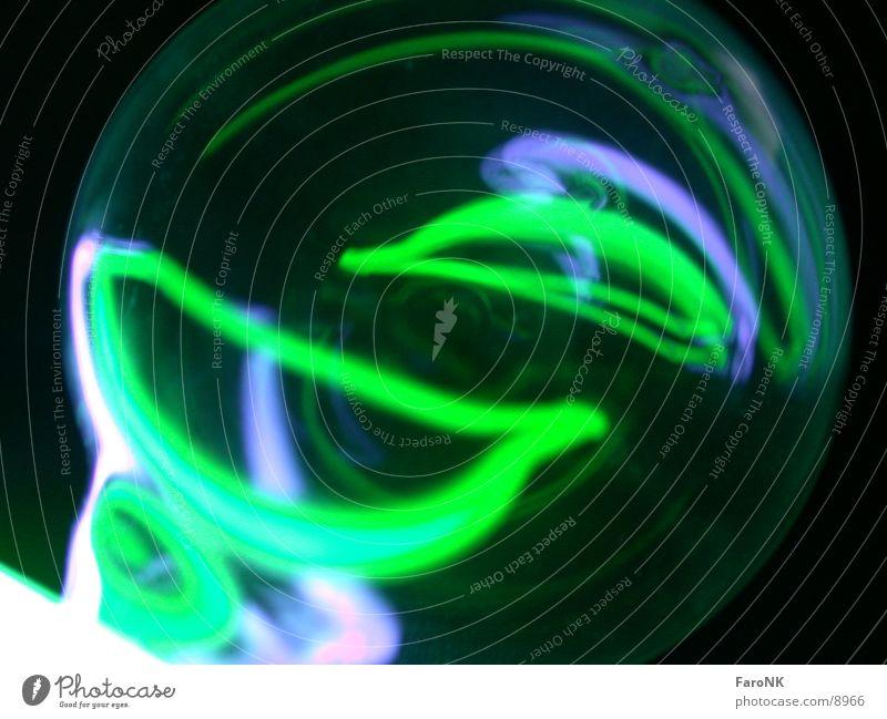 Smiley Neonlicht grün Fototechnik blau