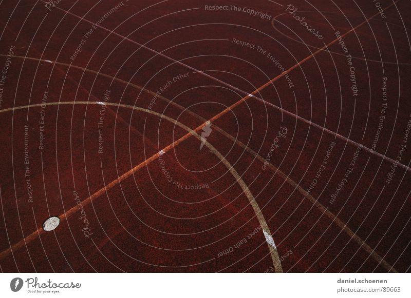 Umlaufbahnen weiß rot dunkel Linie braun Hintergrundbild Kreis Punkt Spielfeld Verkehrswege Ballsport