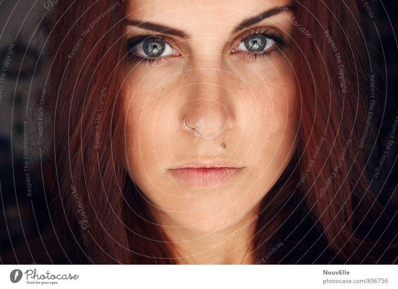 If you don't believe. Mensch feminin Junge Frau Jugendliche Erwachsene Leben Gesicht 1 18-30 Jahre Schmuck Piercing Haare & Frisuren rothaarig langhaarig Ehre