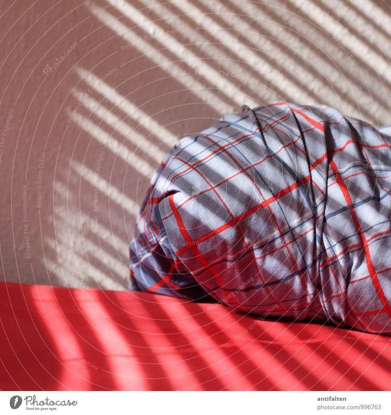 Streifen Lifestyle Stil Design Wohlgefühl Zufriedenheit Erholung ruhig Häusliches Leben Wohnung einrichten Innenarchitektur Bett Tapete Raum Schlafzimmer
