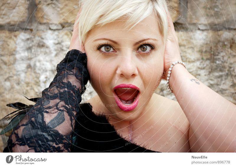 Oh boy. Mensch Frau Jugendliche schön Junge Frau Freude 18-30 Jahre Erwachsene Gesicht Leben feminin Stil Haare & Frisuren Feste & Feiern Mode Party