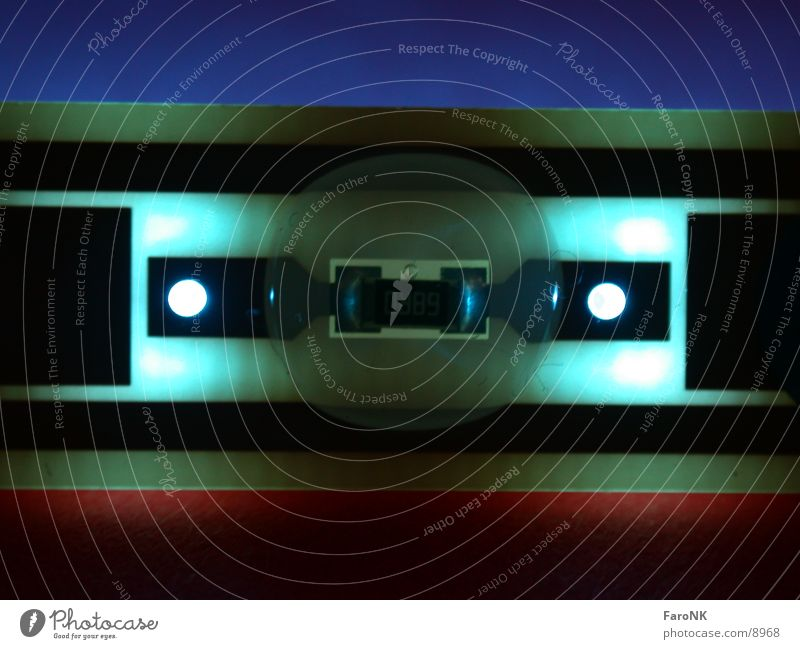 LED Platine blau Technik & Technologie Leuchtdiode Elektronik Elektrisches Gerät
