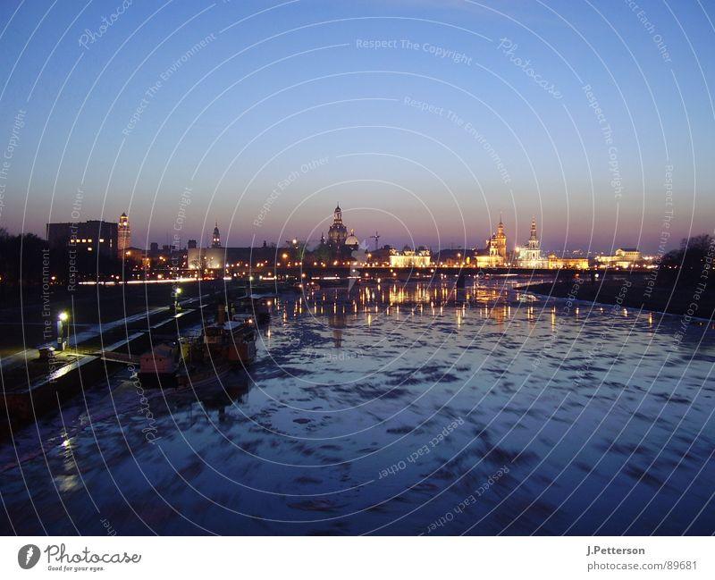 dresdener altstadt im winter Winter ruhig Eis Architektur Dresden Elbe Altstadt