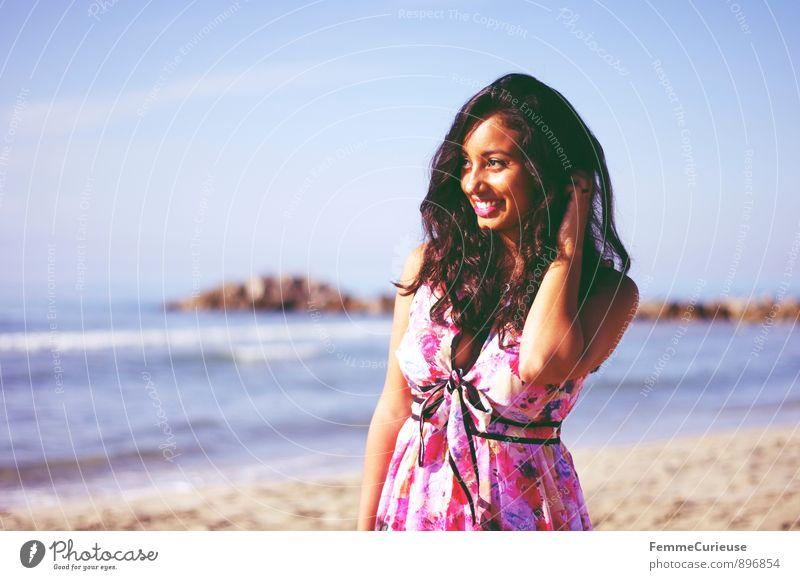 Mademoiselle_06 Mensch Frau Ferien & Urlaub & Reisen Jugendliche Sommer Sonne Erholung Meer Junge Frau 18-30 Jahre Strand Ferne Erwachsene Leben feminin