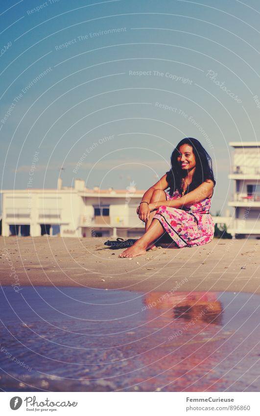 Mademoiselle_01 schön Zufriedenheit Erholung Ferien & Urlaub & Reisen Tourismus Ausflug Ferne Sommer Sommerurlaub Sonne Strand Meer Insel feminin Junge Frau