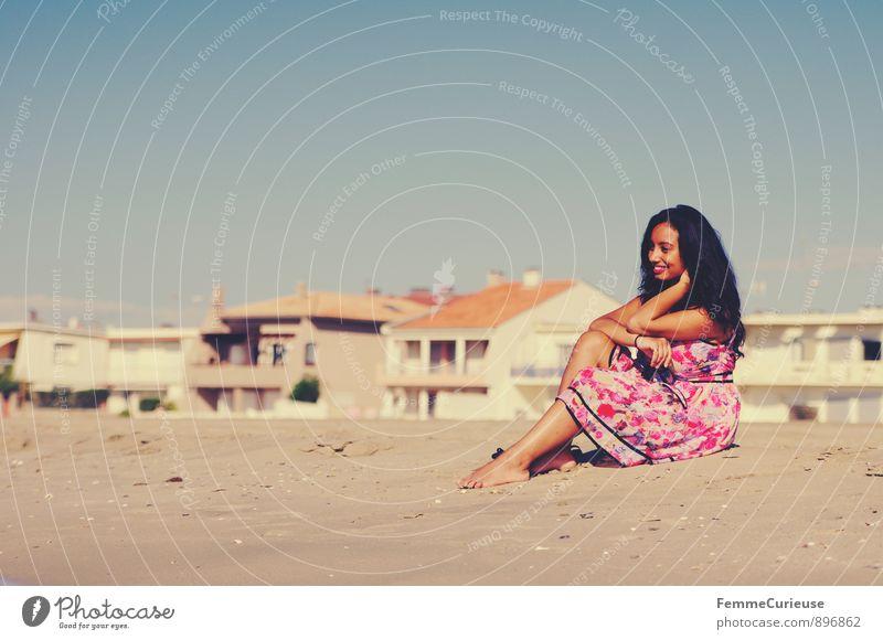 Mademoiselle_03 Mensch Frau Ferien & Urlaub & Reisen Jugendliche schön Erholung Junge Frau ruhig 18-30 Jahre Ferne Erwachsene feminin Freiheit elegant