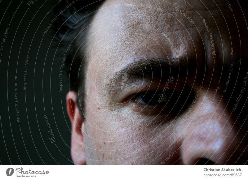 ME, MYSELF AND EYE Augenbraue Nasenloch Nasenbein Porträt Stirn Mann Ohr Haare & Frisuren Haut Ich selbst Falte