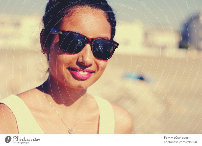Mademoiselle_08 Mensch Frau Ferien & Urlaub & Reisen Jugendliche schön Sommer Sonne Erholung Meer Junge Frau ruhig 18-30 Jahre Strand Ferne Erwachsene feminin