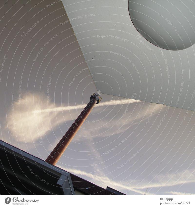 dunstabzugshaube Himmel Wolken Haus Wand Architektur Nebel hoch Dach Turm Industriefotografie Fabrik Weltall Rauch Schornstein UFO Wäscherei