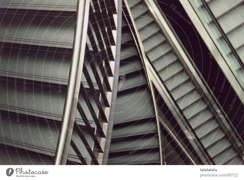 Treppenlabyrinth ruhig Bildung diagonal Architektur Dinge Berufsausbildung Linie Kontrast Charakter