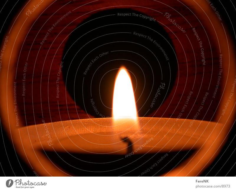Kerze Licht Loch Fototechnik