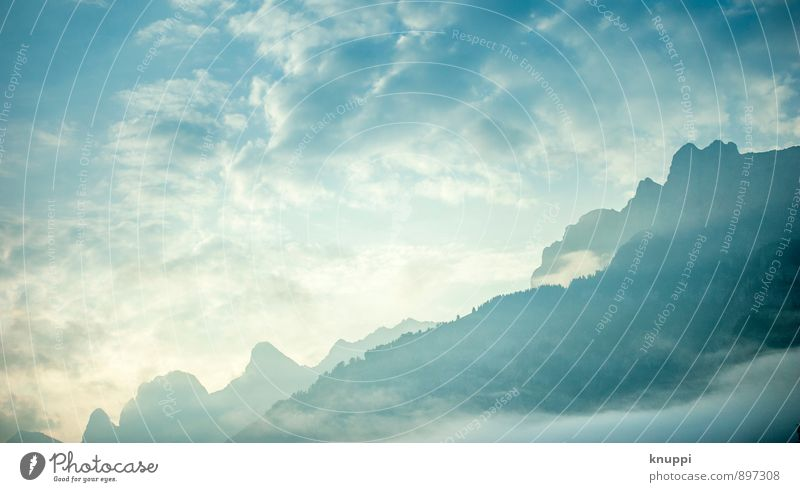 himmlisch Himmel Natur blau Sommer Wasser weiß Sonne Landschaft ruhig Wolken Berge u. Gebirge Umwelt Herbst Glück Freiheit Felsen