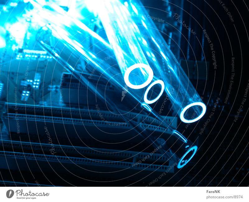 Glasröhrchen blau Fototechnik Reagenzglas