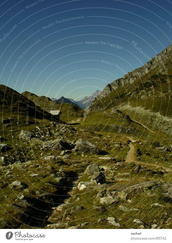currently not available Himmel Ferien & Urlaub & Reisen Einsamkeit ruhig Erholung Wiese Berge u. Gebirge Wege & Pfade Gras Felsen laufen wandern Ausflug Pause