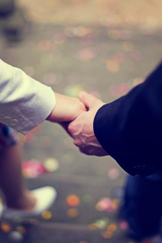 together. Mann Hand Liebe Gefühle Kunst Paar Zusammensein Treppe Frauenbrust ästhetisch Zukunft Kirche berühren Hochzeit festhalten Liebespaar