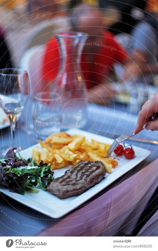 Steak&Pommes. Ferien & Urlaub & Reisen Freude Stil Essen Speise Foodfotografie Lifestyle elegant ästhetisch genießen Ernährung Wein lecker Appetit & Hunger
