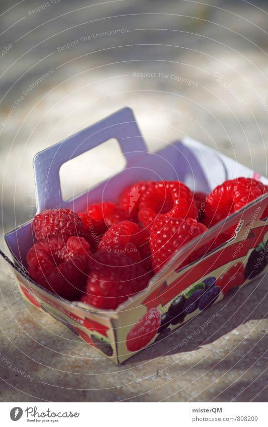 Obstkorb. rot Gesunde Ernährung Gesundheit Kunst Frucht Zufriedenheit ästhetisch viele Bioprodukte ökologisch Beeren Vitamin Himbeeren Obstkorb