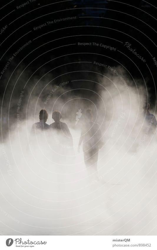 descending fog. Mensch Himmel (Jenseits) dunkel oben Kunst Nebel Zufriedenheit gefährlich ästhetisch geheimnisvoll Ende Futurismus unten Rauch Am Rand verträumt