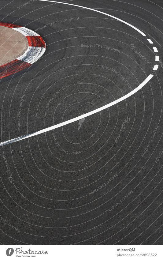 Hairpin. Kunst ästhetisch Zufriedenheit Kurve Verkehrswege Rennsport Motorsport Asphalt rot Nervenkitzel Monaco Monte Carlo Formel 1 Bremsspur Geschwindigkeit