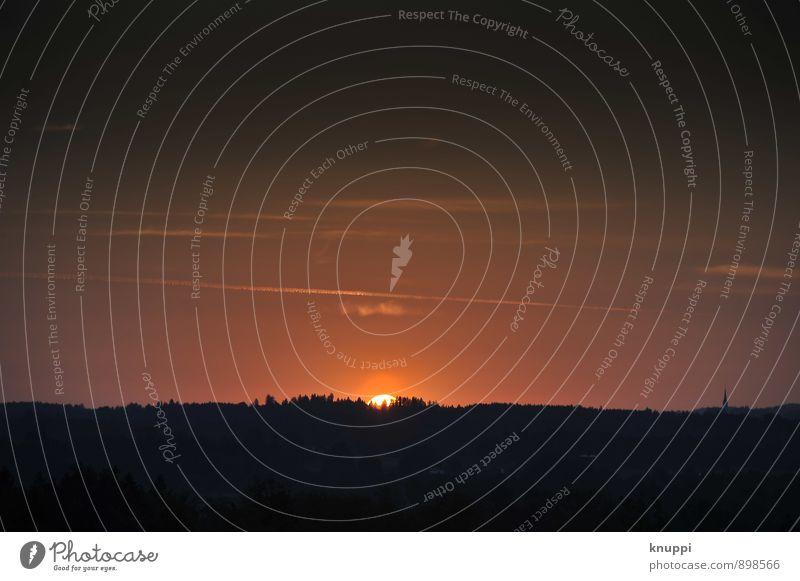 sunset Himmel Natur Sommer Sonne rot Landschaft Wolken dunkel Wald schwarz Umwelt Wärme Linie Horizont orange Luft