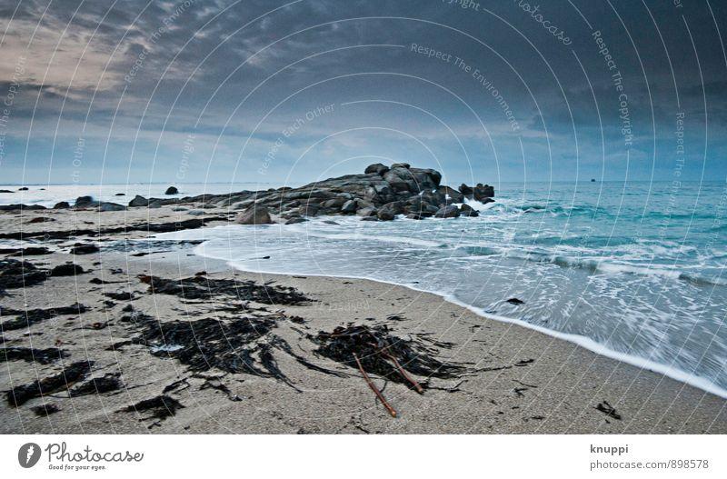 Bretagne Umwelt Natur Landschaft Urelemente Sand Luft Wasser Himmel Wolken Gewitterwolken Horizont Sonnenaufgang Sonnenuntergang Herbst Winter Klimawandel