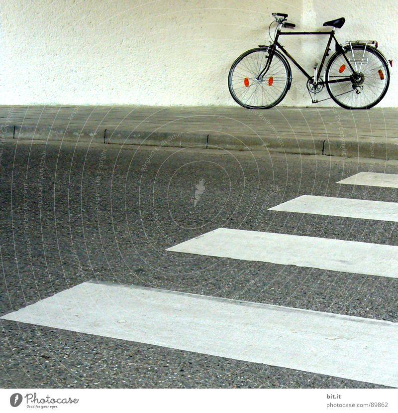 IM WEG STEHN... Fahrrad fahren Zebrastreifen Pause Halt festhalten Erholung Fußgänger Fahrradweg Bürgersteig Rennrad Motorradfahrer Mountainbike Radrennen