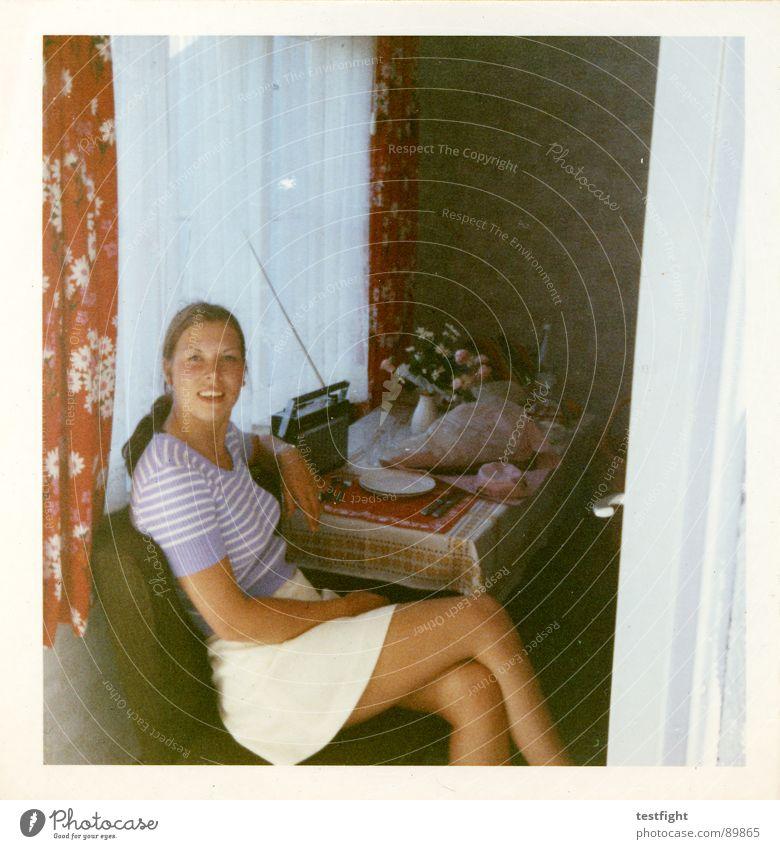 damals Frau alt Sommer Ferien & Urlaub & Reisen sitzen Siebziger Jahre früher