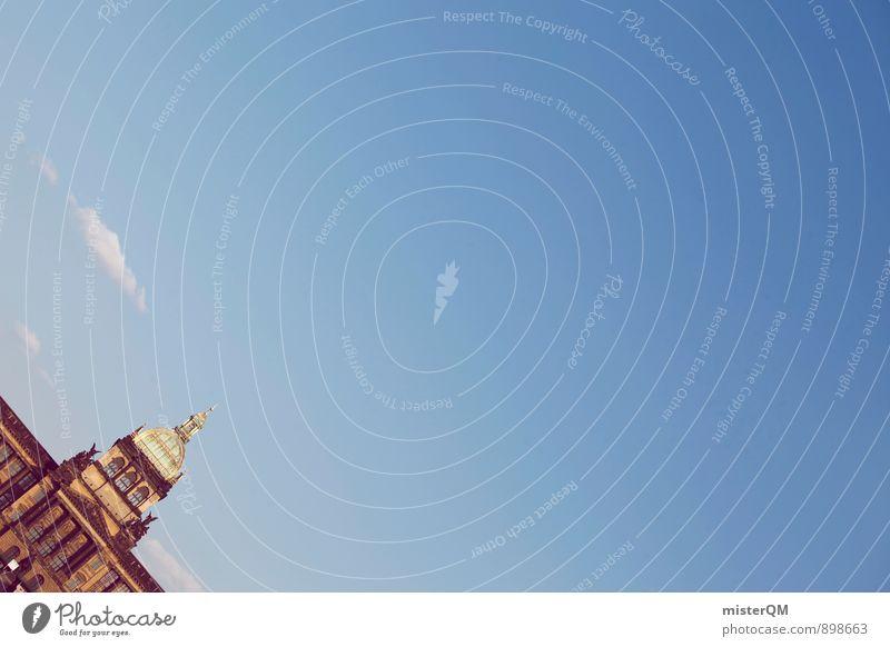 Prag. Kunst ästhetisch Zufriedenheit Tschechien Sehenswürdigkeit Städtereise Himmel (Jenseits) Blauer Himmel sommerlich Sommerurlaub Fernweh historisch