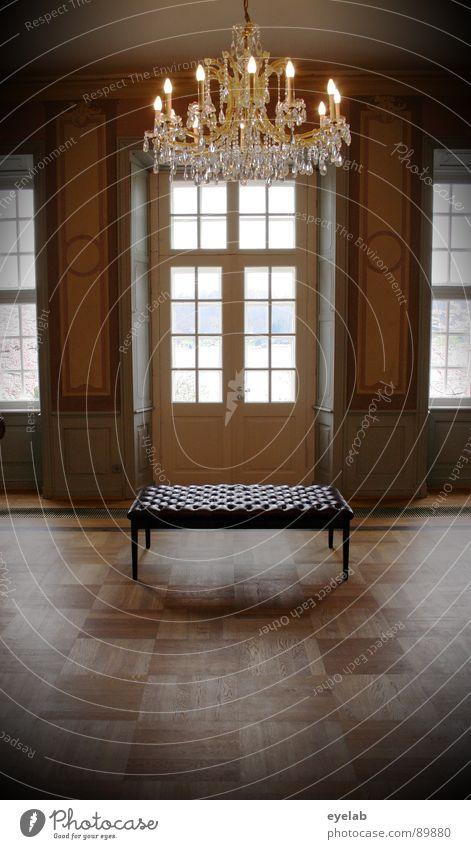 Sitzgelegenheit blaublütiger Abstammung schön alt Fenster Holz Raum Kunst leer Haus Bank Aussicht Bodenbelag Kultur Burg oder Schloss historisch Lagerhalle