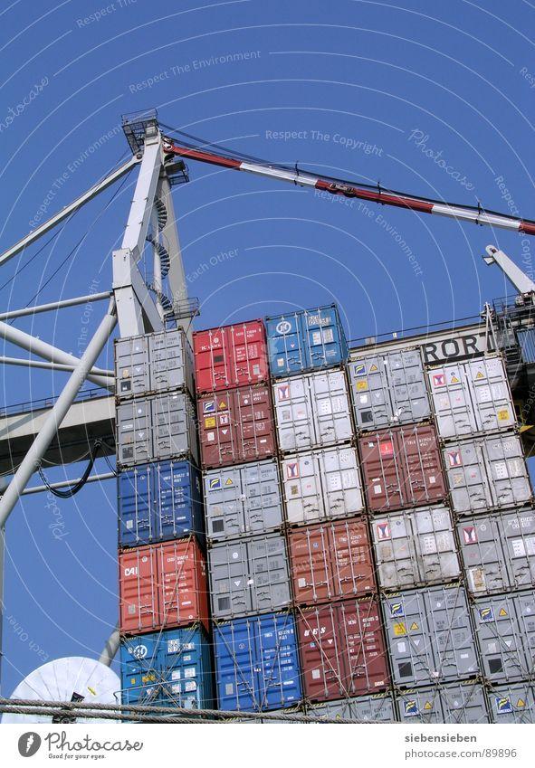 Container Love Meer Wasserfahrzeug Arbeit & Erwerbstätigkeit Verkehr Industrie Fluss Güterverkehr & Logistik Hafen Gastronomie Stahl Ladengeschäft Verkehrswege