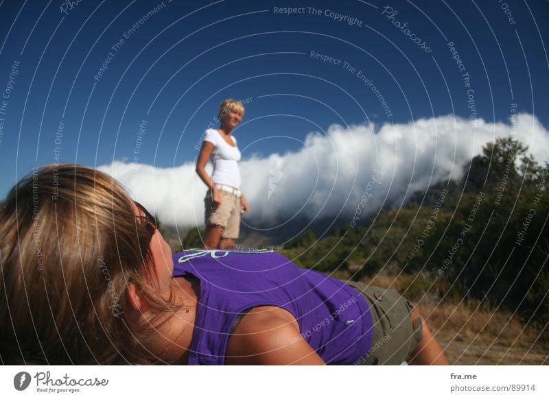 Van Hunks und der Teufel Mensch Himmel Wolken Südafrika Berge u. Gebirge Landschaft Angst Perspektive Zukunft Afrika Vergangenheit Panik Märchen Hölle