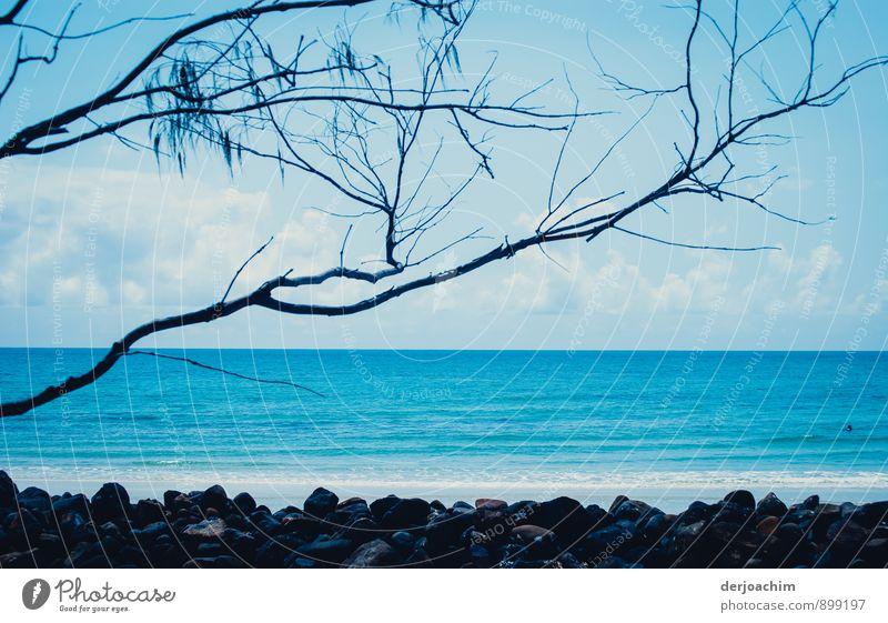 Geduld / Viel Meer Ferien & Urlaub & Reisen Wasser Sommer Erholung Landschaft ruhig Wolken Strand Umwelt Stein Freizeit & Hobby Zufriedenheit Insel Lächeln